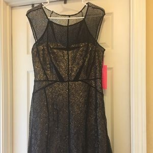 NWT Sequin and Sheer Short dress by Betsey Johnson